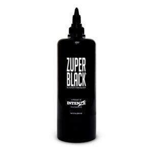 Zuper Black - Intenze Tattoo Ink - 12 oz Bottle. (360 мл)