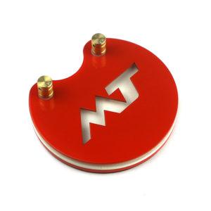 MT Педаль круглая красный неон