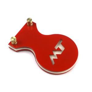 MT Педаль продолговатая красный неон