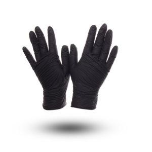 """Перчатки нитриловые """"BENOVY"""" чёрные 50 пар"""
