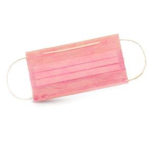 Маски трехслойные розовые, уп. 50 шт