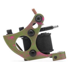 Тату машинка Moskit Steel Fit Liner зелёно розовая